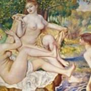 The Bathers Art Print by Pierre Auguste Renoir