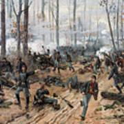 The Battle Of Shiloh Art Print