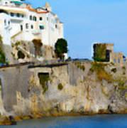 The Beach At Amalfi Art Print