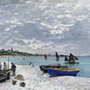The Beach at Sainte Adresse Art Print