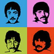 The Beatles Colors Art Print