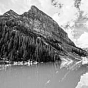 The Beauty Of Lake Louise Bw Art Print