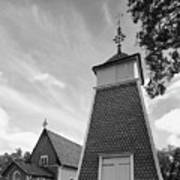 The Bellfry And The Church Of Kustavi Art Print