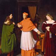 The Betrothal Of Raphael And The Niece Of Cardinal Bibbiena Art Print