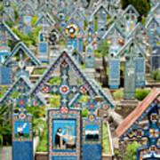 The Blue Cemetery Art Print