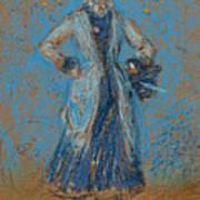 The Blue Girl Art Print