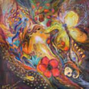 The Blue Lilies Art Print by Elena Kotliarker