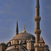 The Blue Mosque In Istanbul Turkey Art Print