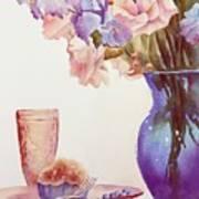 The Blue Vase Art Print by Bobbi Price