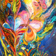 The Butterflies Print by Elena Kotliarker