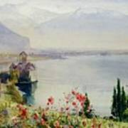 The Castle At Chillon Art Print by John William Inchbold