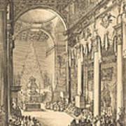 The Catafalque Of The Emperor Mathias Art Print