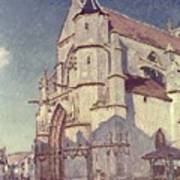 The Church At Moret Print by Alfred Sisley