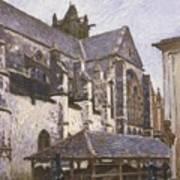 The Church At Moret Art Print