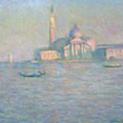 The Church Of San Giorgio Maggiore Art Print