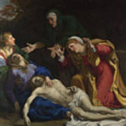 The Dead Christ Mourned The Three Maries Art Print