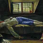 The Death Of Chatterton Art Print