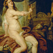 Panthea Stabbing Herself With A Dagger After The Death Of Her Husband Abradates Art Print