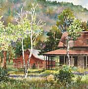 The Delonde Homestead At Caribou Ranch Art Print