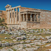 The Erechtheum On The Acropolis, Athens, Greece Art Print