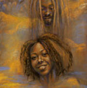 The Faces Of God Art Print by Gary Williams