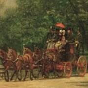 The Fairman Rogers Coach And Four Print by Thomas Cowperthwait Eakins