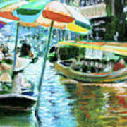 The Floating Market Art Print