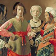 The Fortune Teller Art Print by Georges de la Tour