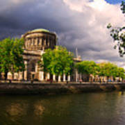 The Four Courts In Reconstruction 2 Art Print