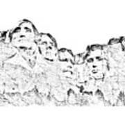 The Four Presidents Art Print