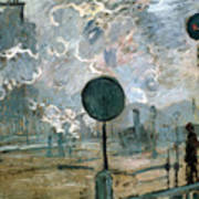 The Gare Saint-lazare Art Print