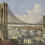The Great East River Suspension Bridge Art Print