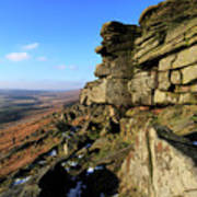 The Gritstone Rock Formations On Stanage Edge Art Print