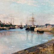 The Harbor At Lorient Art Print