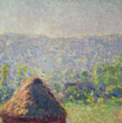 The Haystacks Art Print by Claude Monet