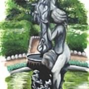 The Hidden Fountain Art Print