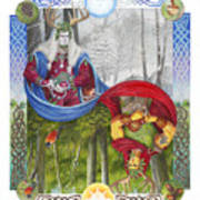 The Holly King And The Oak King Art Print