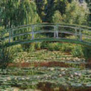 The Japanese Footbridge And The Water Lily Pool Giverny Art Print