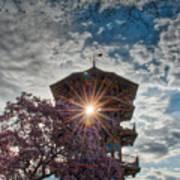 The Light Through The Pagoda Art Print