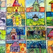 The Little Houses Art Print