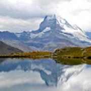 The Matterhorn And Lake Stellisee Art Print