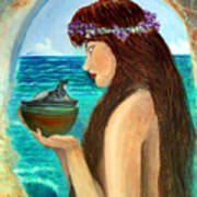 The Mermaid And The Pandora Box Art Print