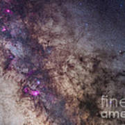 The Milky Way Around The Small Art Print