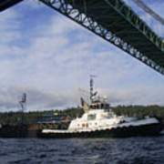 The New Tacoma Narrows Bridge - Foss Tug Art Print