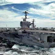The Nimitz-class Aircraft Carrier Uss Art Print