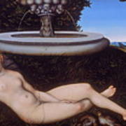 The Nymph Of The Fountain Art Print
