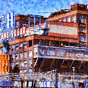 The Old C And H Pure Cane Sugar Plant In Crockett California . 5d16769 Art Print by Wingsdomain Art and Photography