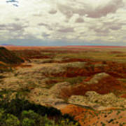 Viewpoint In The Painted Desert Art Print