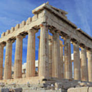 The Parthenon Acropolis Athens Greece Art Print