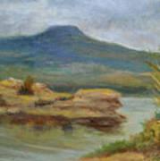 The Pedernal and Lake Abiquiu Art Print